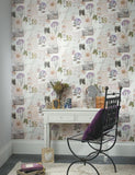 98200 Botanical Collage is a beautiful Neutral Collage Wallpaper from Holden Decor