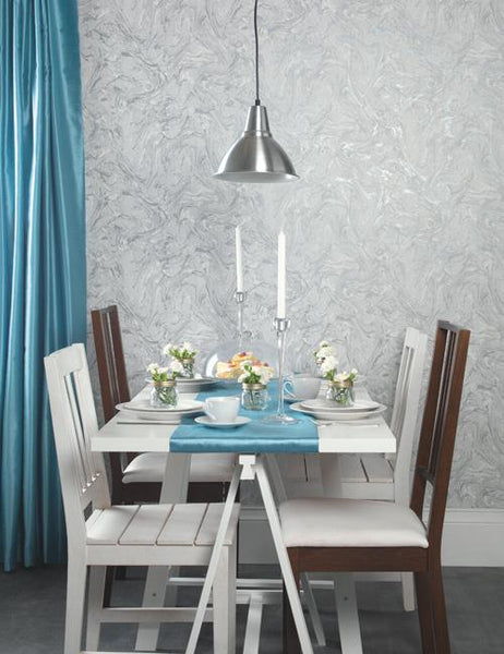 98250 Marble is a beautiful Silver / Grey Marble Effect Wallpaper from Holden Decor