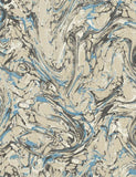 98252 Marble is a beautiful Gold / Blue Marble Effect Wallpaper from Holden Decor