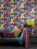 98363 Petula is a beautiful Black / Multi Floral Wallpaper from Holden Decor