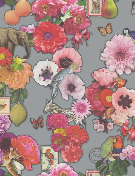 98400 Madagascar is a beautiful Silver Floral Wallpaper from Holden Decor