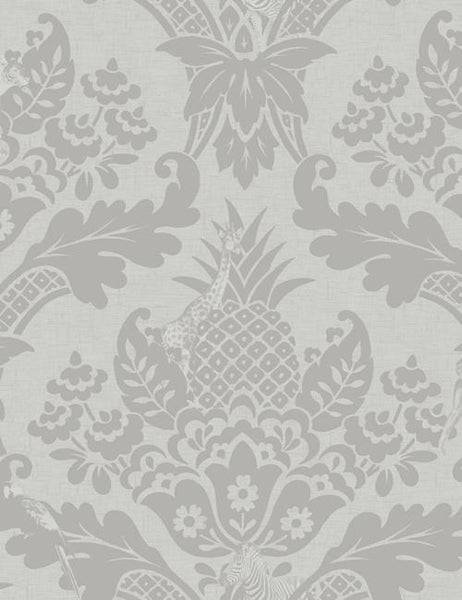 98410 Bengal is a beautiful Grey Damask Wallpaper from Holden Decor