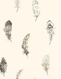 98471 Liatris is a beautiful Cream / Grey Feather Wallpaper from Holden Decor