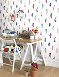 98472 Liatris is a beautiful Multi Feather Wallpaper from Holden Decor