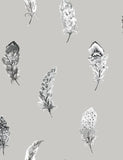 98473 Liatris is a beautiful Silver / Grey Feather Wallpaper from Holden Decor