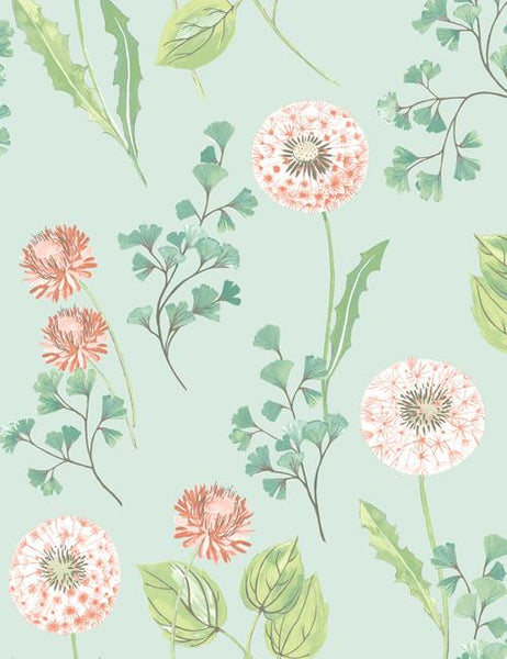 98510 Cassara is a beautiful Duckegg / Pink Floral Wallpaper from Holden Decor