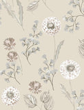 98513 Cassara is a beautiful Cream / Taupe Floral Wallpaper from Holden Decor