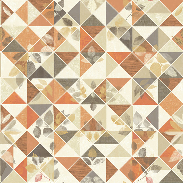 Aster Non Woven Burnt Orange/Taupe