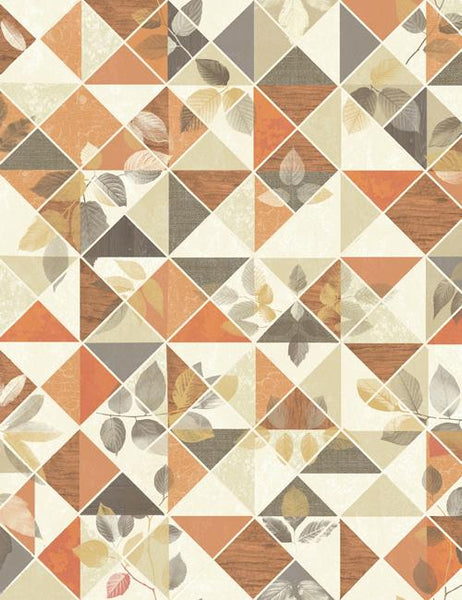 98530 Aster is a beautiful Orange / Taupe Geometric Wallpaper from Holden Decor