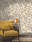 98532 Aster is a beautiful Grey / Cream Geometric Wallpaper from Holden Decor