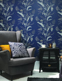 98544 Cembra is a beautiful Blue Floral Wallpaper from Holden Decor