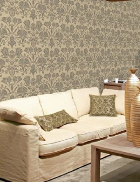 99064 Lambada Flock is a beautiful Neutral Floral Flock Wallpaper from Holden Decor