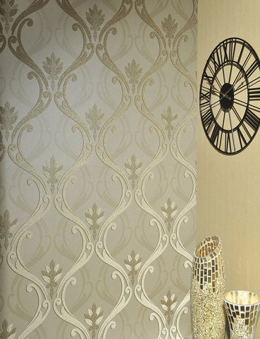 99252 Dorchester is a beautiful Gold Trail Beaded Wallpaper from Holden Decor