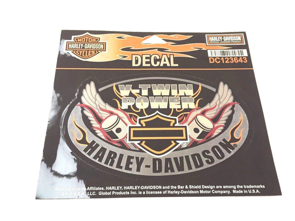 Harley Davidson V-Twin Power Bar & Shield Decal
