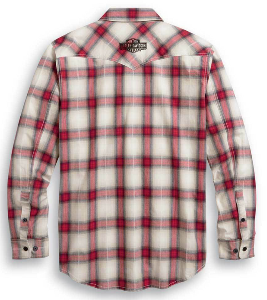 Harley Davidson Men's Freedom Long Sleeve Button Front Plaid Shirt 99010-20VM