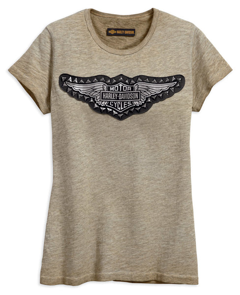 Harley Davidson Studded Wing Womens T-Shirt