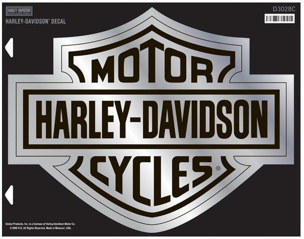 Harley Davidson Bar & Shield Decal Chrome X-Large Harley-Davidson®- HarleyShop