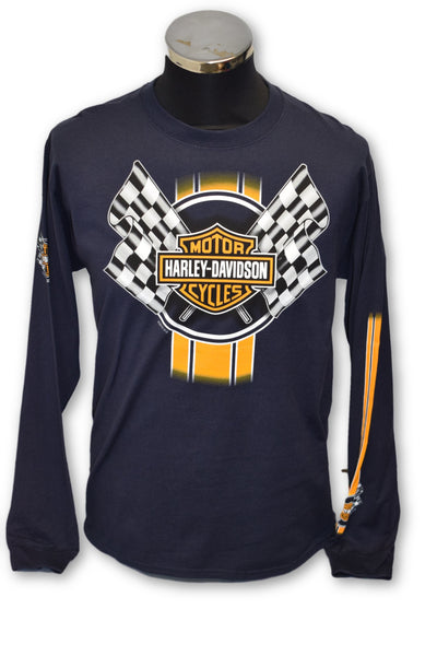 Men's Harley Davidson Racing Stripe Long Sleeved T-Shirt