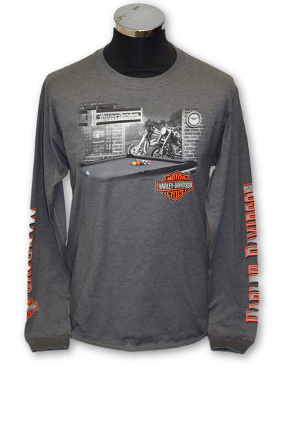 Harley Davidson Men's Long Sleeved Man Cave T-shirt