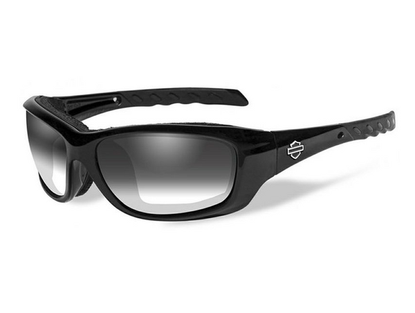 Harley Davidson X Wiley HD Gravity LA Smoke Grey in Gloss Black Frame Sunglasses