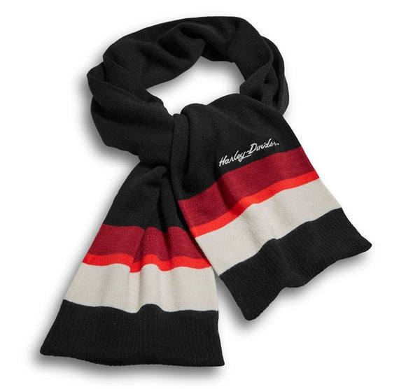 Harley Davidson Women's Striped Knit Scarf