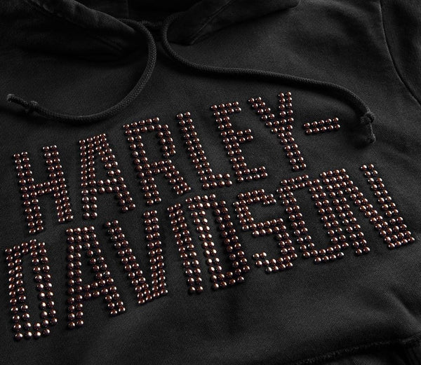 Harley Davidson Women's Studded Graphic Pullover Hoodie