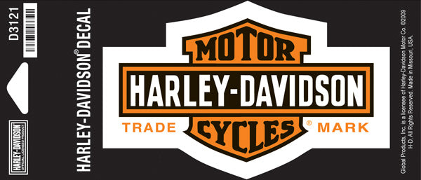Harley Davidson Long Bar & Shield Small Decal Harley-Davidson®- HarleyShop