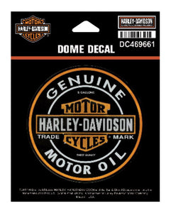 Harley Davidson Dome Motor Oil Bar & Shield XS Decal Harley-Davidson®- HarleyShop