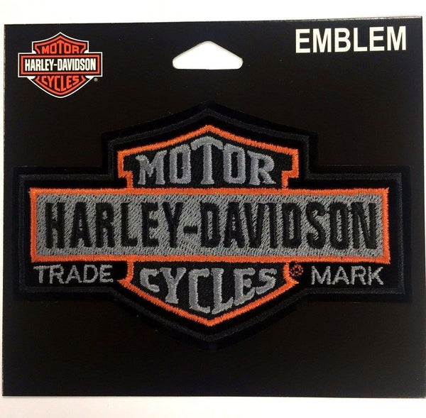 Harley Davidson Long Black & Orange Bar & Shield Emblem EM313752