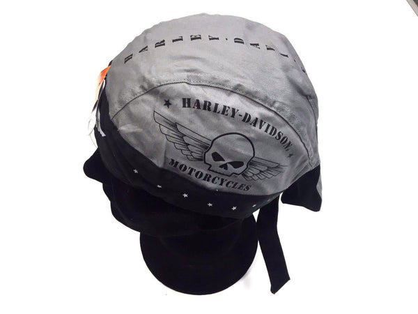 Harley Davidson Black & Grey Military Skull Head Wrap