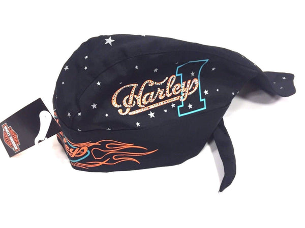 Harley Davidson Ladies Studded Flame Head Wrap Harley-Davidson®- HarleyShop