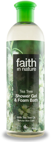 Shower gel/skumbad Tea tree 400 ml.