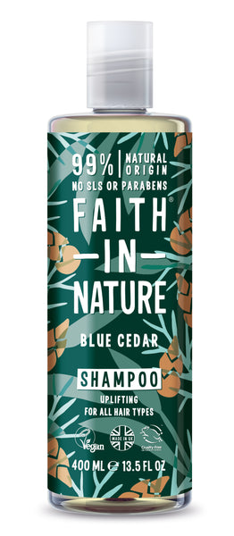 Blue Cedar shampoo 400 ml fra faith in nature
