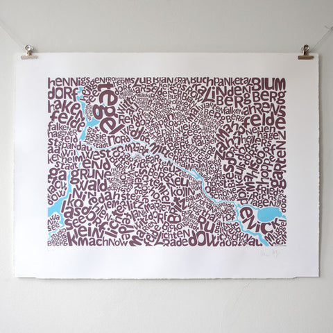 Map of Berlin, Ursula Hitz - CultureLabel - 1 (hung)