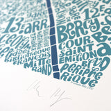 Map of Paris blue/dark blue, Ursula Hitz - CultureLabel - 4 (signature)