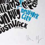Map of NYC - small, Ursula Hitz - CultureLabel - 4 (signature)