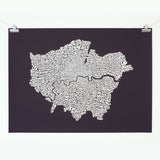 Map of Greater London, Ursula Hitz - CultureLabel - 2