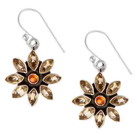 Sunflowers Garnet Drop Earrings, The National Gallery - CultureLabel