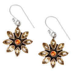 Sunflowers Garnet Drop Earrings, The National Gallery