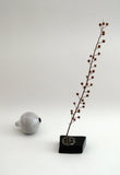 Temoku and Moss Glazed Porcelain Plant Stem Holder - CultureLabel - 3