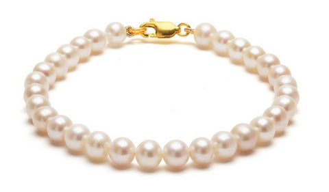 Classic White Pearl Bracelet, ORA Pearls