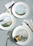 Set of Four Cloud Dinner Plates, Snowden Flood - CultureLabel - 3