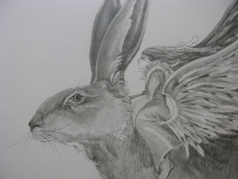 Angel Hare, Original pencil drawing, Jackie Morris - CultureLabel - 1