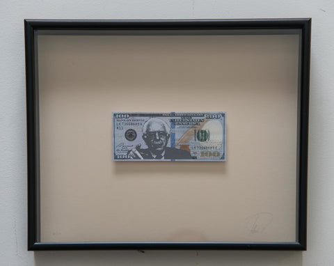 Bank on Bernie - Framed Bernie Sanders $100 Bill