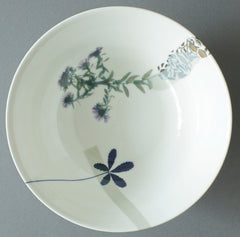 Daisy and Dandelion with Marigolds China Bowl, Chimera Collection