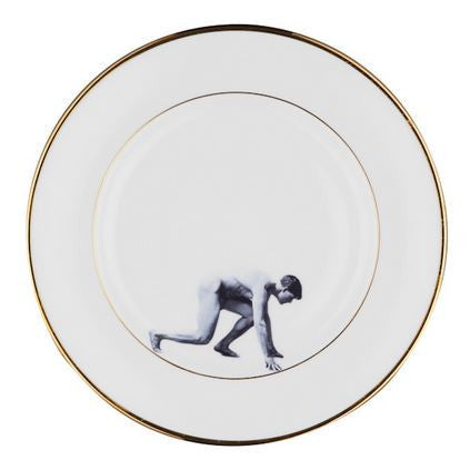 Man on the Run Bone China Plate, Melody Rose - CultureLabel - 1