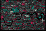 Literary London Map (Red & Green), Run For The Hills - CultureLabel - 1 (full image)