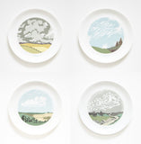 Set of Four Cloud Dinner Plates, Snowden Flood - CultureLabel - 2