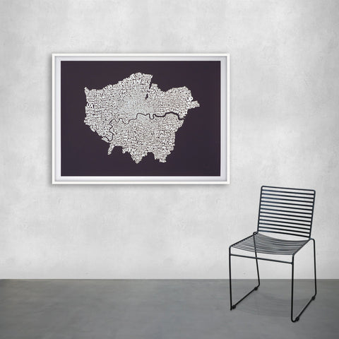 Map of Greater London, Ursula Hitz - CultureLabel - 1