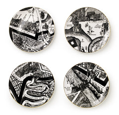 A Map of Days Set of Four Plates, Grayson Perry